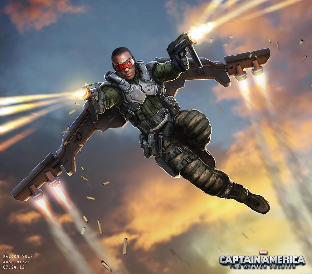 Learn How To Draw Falcon From Captain America Civil War: Captain America The Winter Soldier « Joshnizzi.com